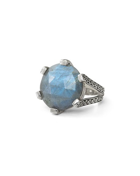 Stephen Dweck 20mm Prong-Set Labradorite Ring