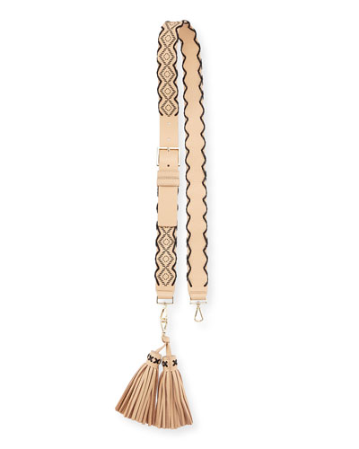 mix it up woven tassel strap, cashew