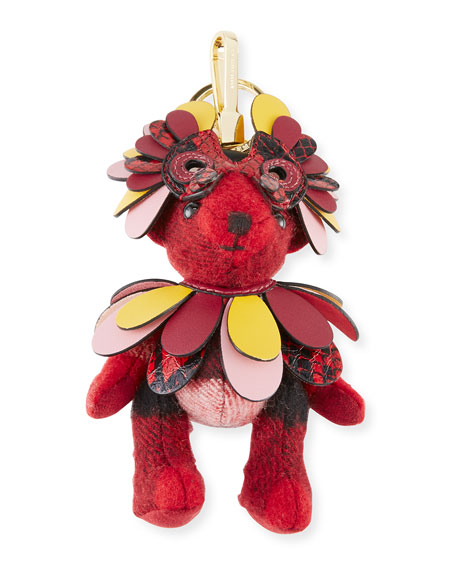Burberry Thomas Owl Charm for Handbag, Red