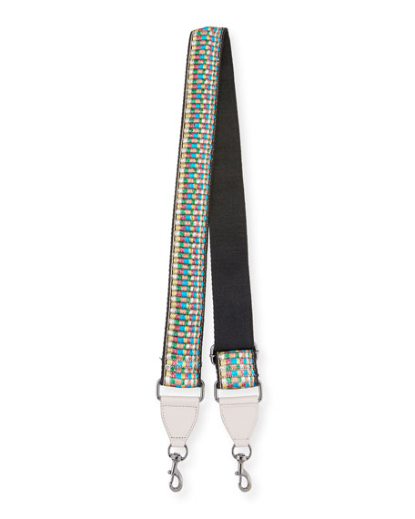 Rebecca Minkoff Metallic Rainbow Guitar Strap for Handbag,