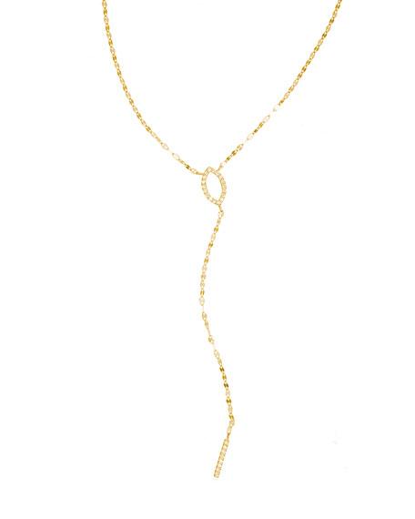 Lana Flawless 14K Marquis Mini Diamond Lariat Necklace