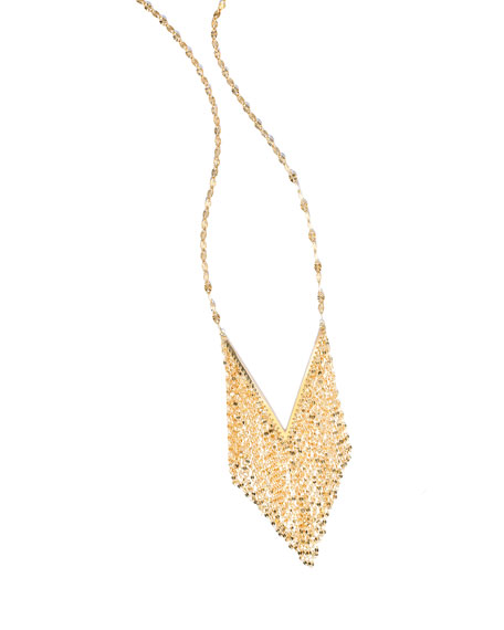 14K Mega Fringe Pendant Necklace