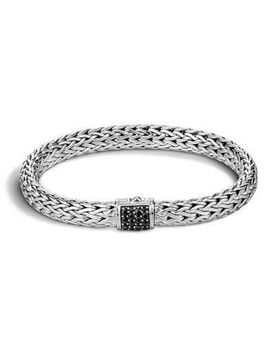 Medium Chain Bracelet with Black Sapphire Clasp
