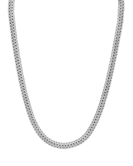 Small Classic Chain Necklace with Chain Clasp, 16""