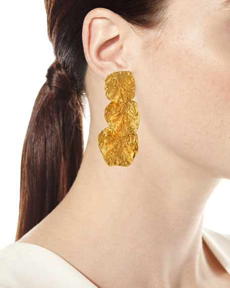 Rock Triple-Drop Earrings