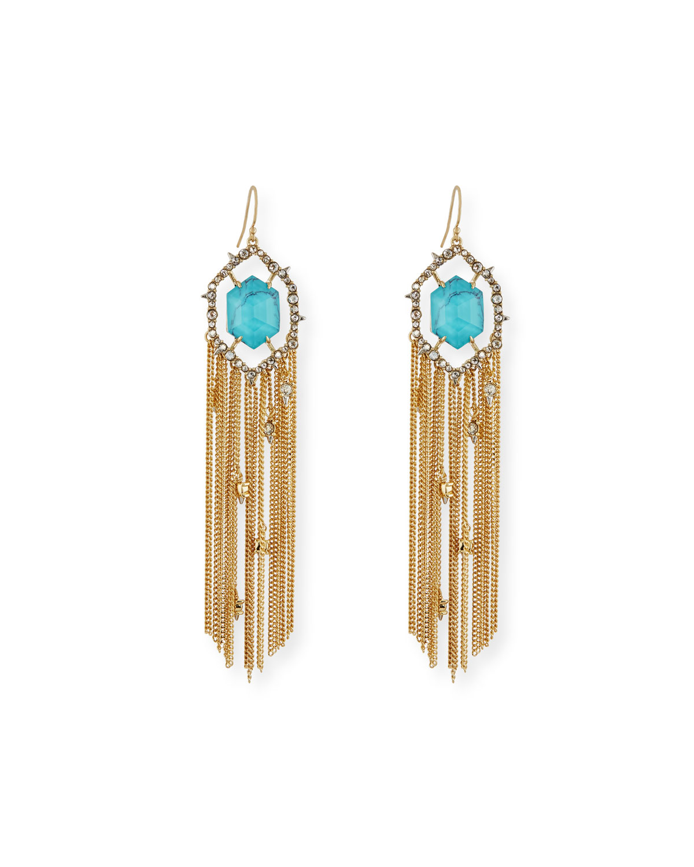 Crystal Fringe Tel Earrings