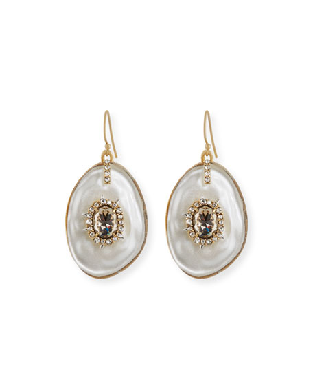 Alexis Bittar Liquid Crystal Earrings, Silver
