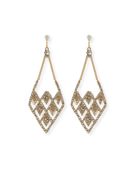 Lattice Wire Drop Earrings