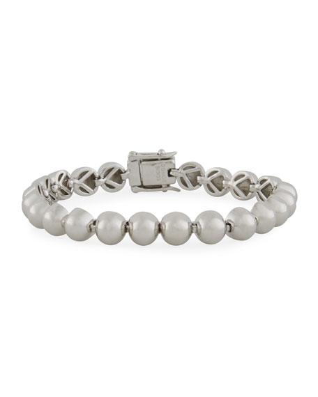Eddie Borgo Sterling Silver Dome Bead Bracelet