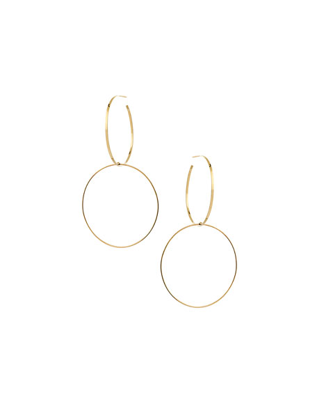 Bond Large Double-Hoop Drop Earrings