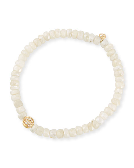 Sydney Evan 5mm White Sapphire Beaded Bracelet with