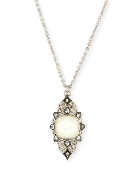 Armenta New World Scroll Necklace with Opal &