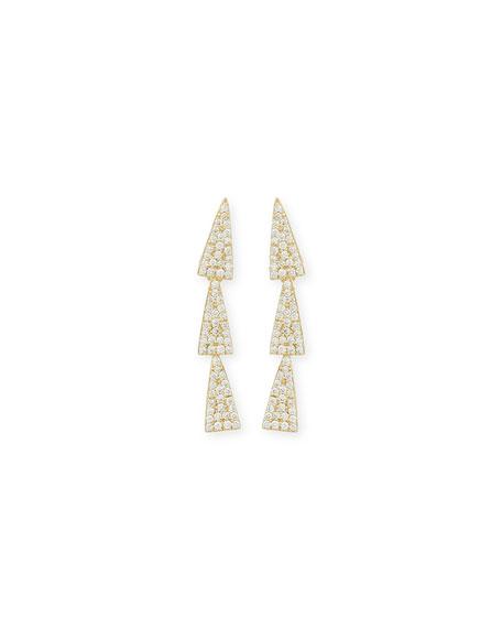 LANA 14K Gold Diamond Crush Studs