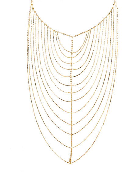 14K Gold Vanity Chain Necklace