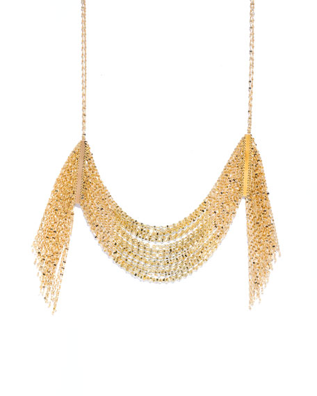 LANA Draping 14K Gold Fringe Necklace