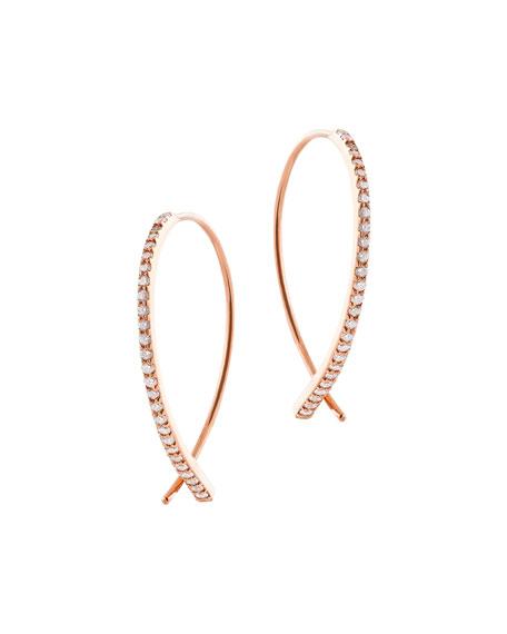 Small Flawless Vol. 6 Diamond Upside Down Earrings in 14K Rose Gold