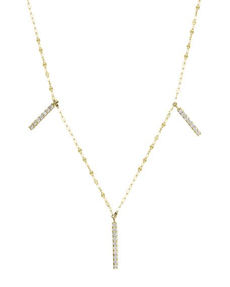 Flawless Vol. 6 Triple Diamond Bar Necklace