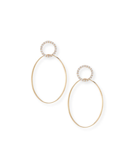 Lana Link Hoop Earrings with Diamonds