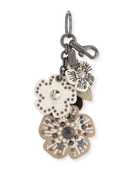 coach 1941 willow flower mix handbag charm key chain