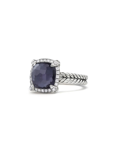 David Yurman 9mm Ch??telaine Ring in Amethyst Doublet