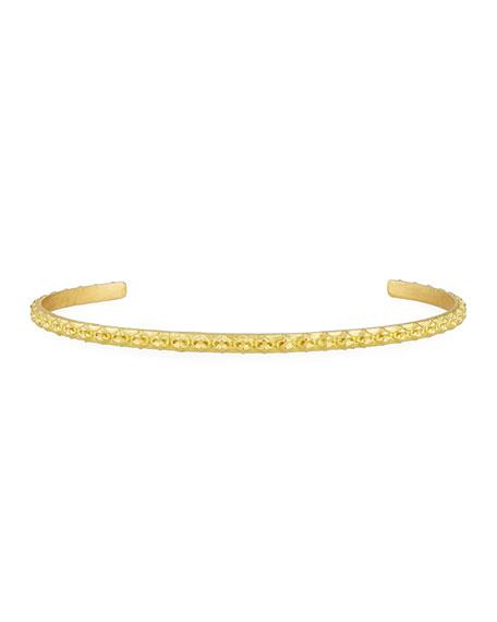 Sueno Crivelli Slim 18K Bangle Bracelet