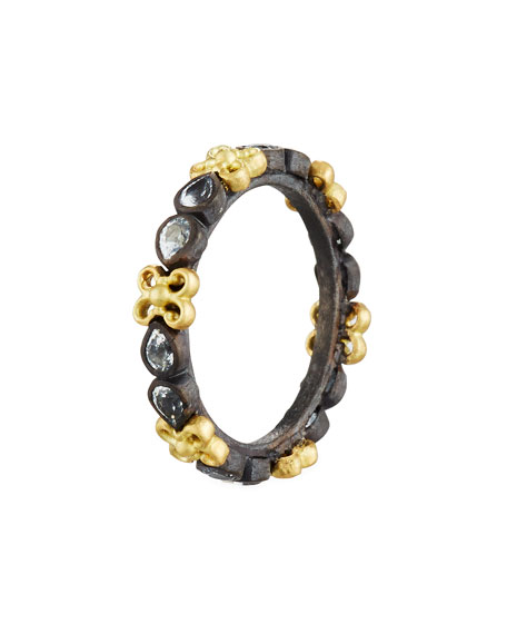 Armenta Old World Midnight Stacking Ring with Pear-Cut Black Sapphires bJtvu4lKCv