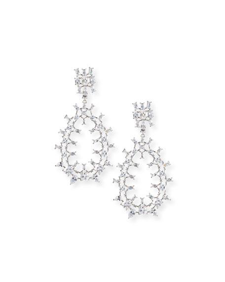 Fallon Monarch Oversized Crystal Teardrop Earrings