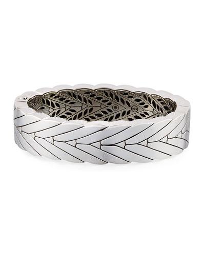 Modern Chain Small Hinged Bangle Bracelet