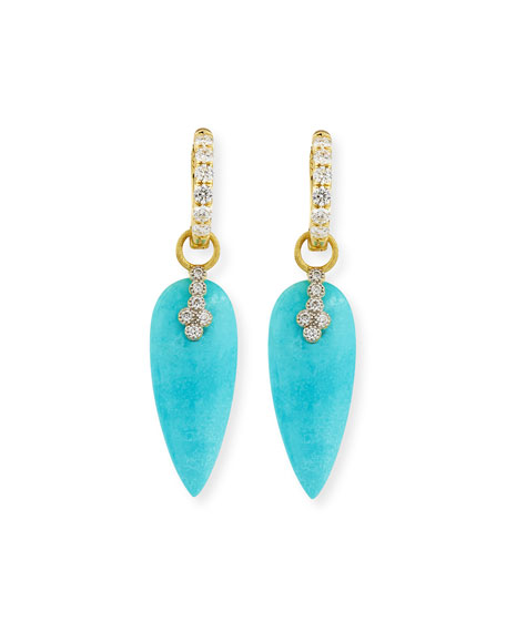 Pavé Diamond Hoop Earrings in 18K Gold