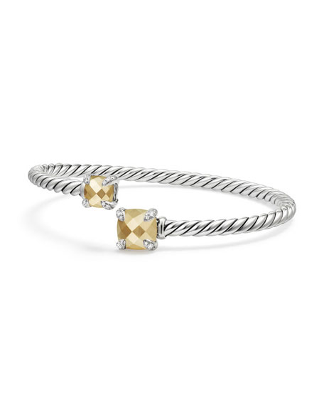 David Yurman Ch??telaine Faceted 18K & Sterling Silver