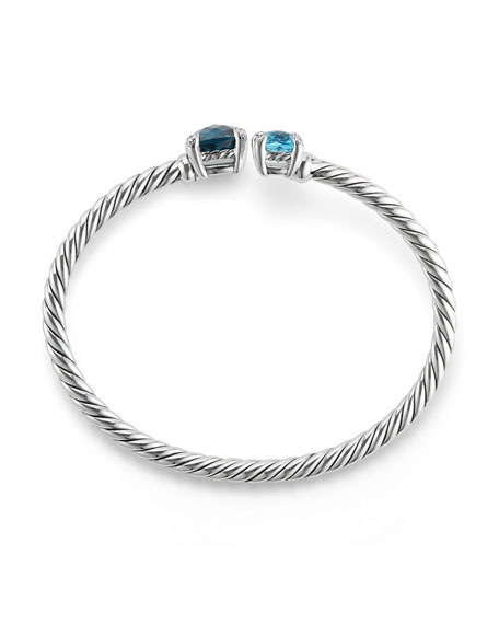 Châtelaine Bypass Cuff Bracelet with Diamonds