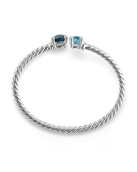 Châtelaine Bypass Cuff Bracelet with Diamonds