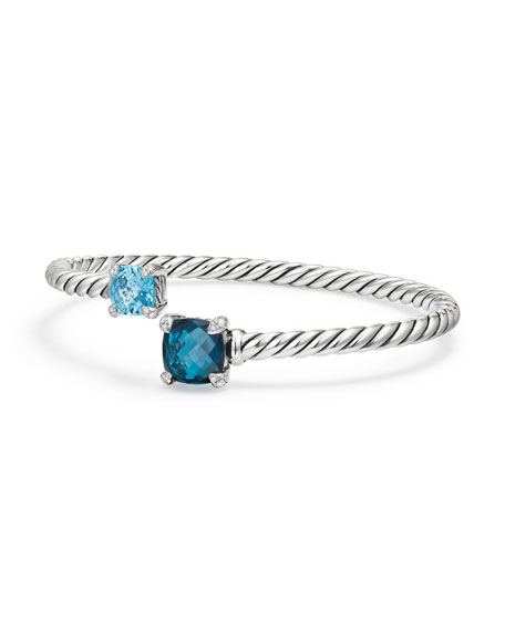 David Yurman Châtelaine Bypass Cuff Bracelet with Diamonds