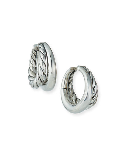 25.5mm Pure Form Sterling Silver Double Hoop Earrings