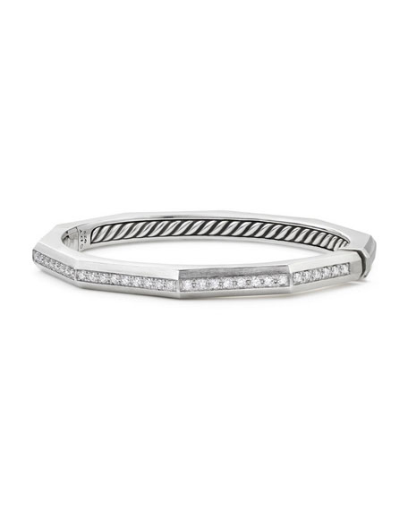 Stax Faceted Cuff Bracelet with Diamonds