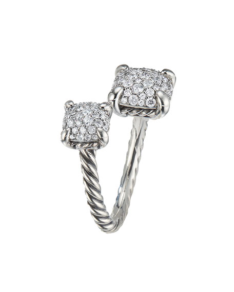 Châtelaine Pavé Diamond Bypass Ring