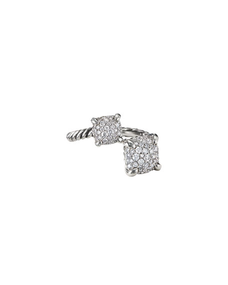 Châtelaine Pave Diamond Bypass Ring