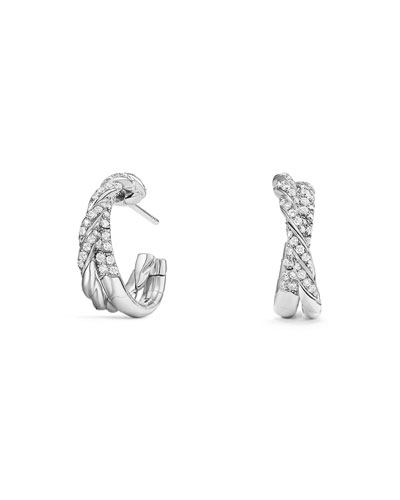 18k Pavéflex Diamond Hoop Earrings, 1.0tcw