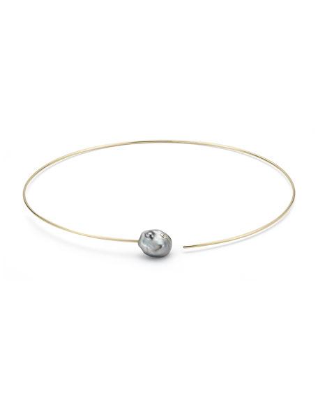 Sea of Beauty Tahitian Keshi Pearl & Diamond Collar Necklace