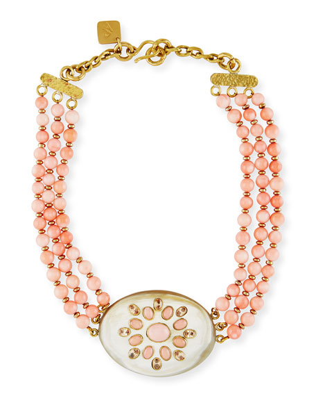 Ashley Pittman Bendi Beaded Coral Necklace