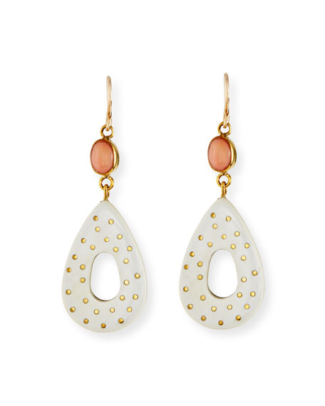 Ashley Pittman Bendi Light Horn & Coral Teardrop