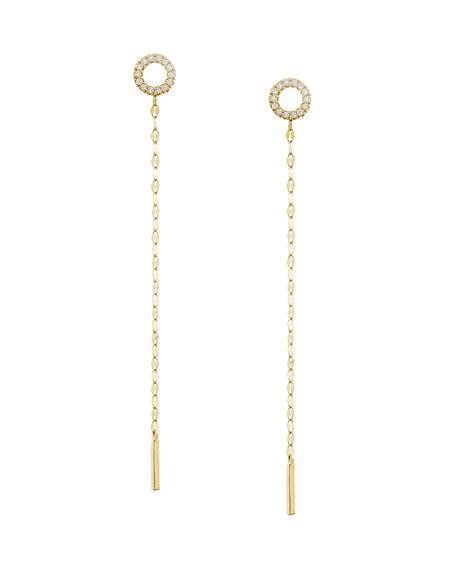LANA Diamond Circle Duster Earrings