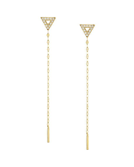 LANA Diamond Triangle Duster Earrings