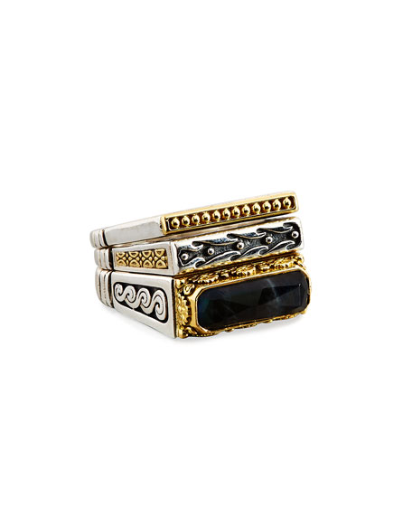Konstantino Spectrolite Hinge Stacking Ring