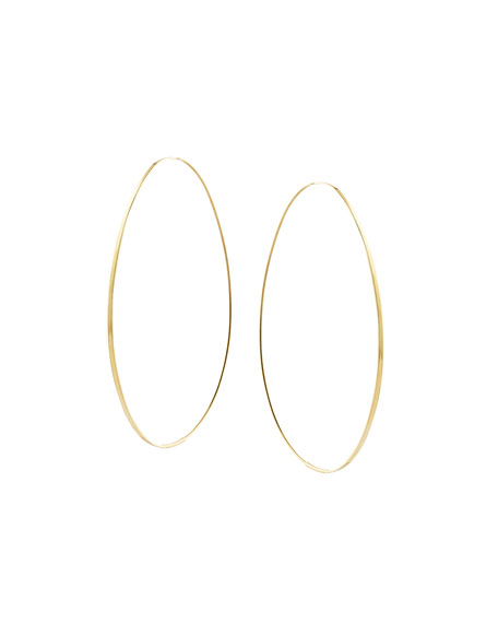 Large Tear Hoop Earrings
