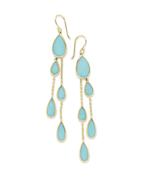Ippolita 18K Polished Rock Candy Multi-Pear 2-Chain Drop