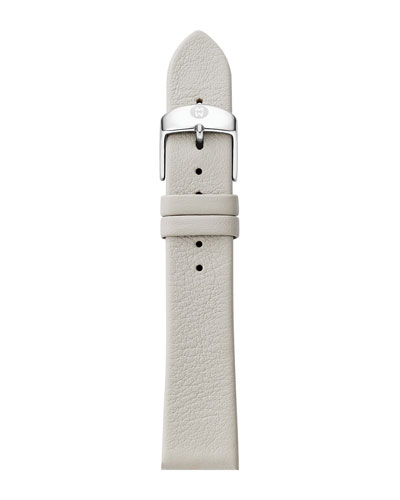 16mm Leather Watch Strap, Light Gray