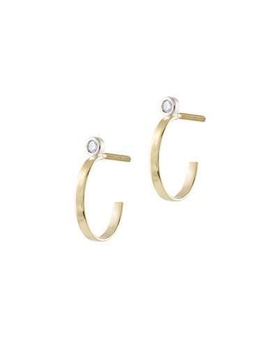 Girls' Diamond Huggie Hoop Earrings