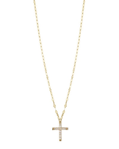 Girls' Diamond Cross Pendant Necklace
