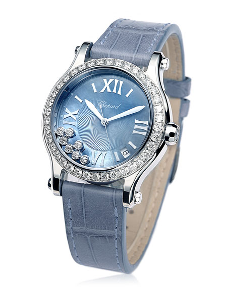 36mm Happy Sport Automatic Bracelet Watch with Diamonds